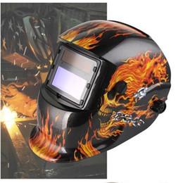 Weld mask darkening online shopping - Skull Solar Auto Darkening MIG MMA Electric Welding Mask Helmet welder Cap Welding Lens for Welding Machine