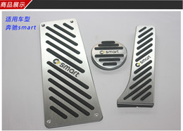 aluminum accelerator pedal NZ - Aluminum Car Accessories For Benz Smart Fortwo Elf 2009-2014 Gas Brake Accelerator Foot Rest Pedal Pad,Styling Sticker Cover