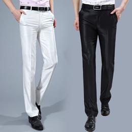 2d665af53 Al por mayor-Pantalones de traje de los hombres 2017 Slim Fit Pantalones de vestir  para hombre Traje de la arruga libre de la moda coreana Pantalones ...