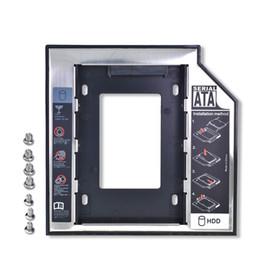 Vente en gros 2ème disque dur universel en aluminium avec adaptateur disque dur 12.7mm SATA 3.0 pour disque dur SSD 2.5''7 / 9 / 9.5 / 12.5mm Boîtier de disque dur HDD CD-ROM Optibay