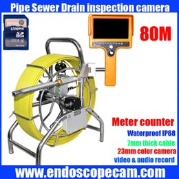 Sewer Drain Pipe NZ - 80m DVR Meter counter Wall Borescope Endoscope, 80m DVR Meter counter Drain Pipe Sewer Inspection Video Camera with 23mm camera