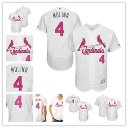 2f9879d922f Grey Road Stitched Baseball Jersey AAA Mens Womens youth custom St. Louis  Mens St. Louis Cardinals 4 Yadier Molina White with Green Memorial ...