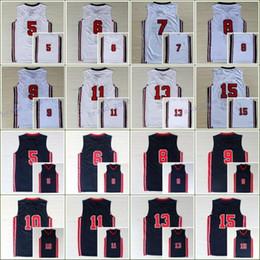 1992 USA Dream Team Jerseys Cheap 7 Larry Bird 6 Patrick Ewing 13 Chris  Mullin 8 Scottie Pippen 10 Clyde Drexler 11 Karl Malone 15 Johnson cheap  cheap army ... 2b0ed6bbb