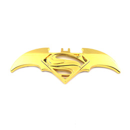 Discount batman car window - new 3D Cool Metal bat auto logo car styling car stickers batman superman badge emblem decal motorcycle car accessories