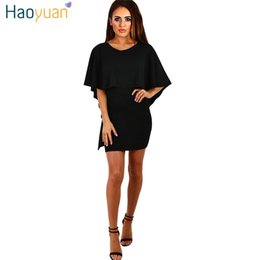 Cappot Noir Pas Cher-6 Couleur Ruffle Cap Cape robe d'été 2017 Nouveau Backless bandage Bodycon robe Sexy Club noir Party Mini Beach Dresses 17301
