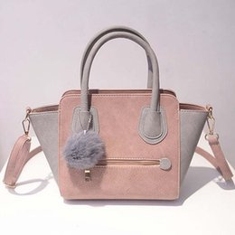 $enCountryForm.capitalKeyWord Canada - Wholesale- Sac a Main 2016 Spring Smiley PU Leather Tote Bag Women Trapeze Fashion Designer Handbags Ladies Bags Vintage Crossbody Bags