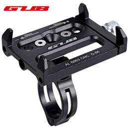 Wholesale GUB Universal Bicycle Phone Stand Bike Accessories Mobile Phone Holder Adjustable Width CNC Cycling Bicycle Parts Phone Holder Bike Handle B