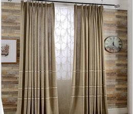 High Quality Modern Simple Linen Knitted Jacquarad Coffee Window Blackout  Curtain For Living Room Hotel Cafe Wholesale Fabric Price Part 57