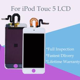 Оптовая класс A++ + + ЖК-дисплей Digitizer Ассамблеи замена для iPod Touch 5 Черный и белый Бесплатная доставка