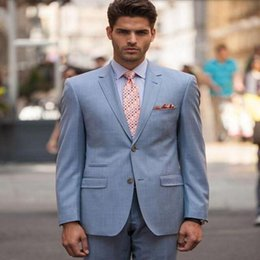 purple business suit Australia - 8.1Custom Made Blue Men Slim Fits Suits Men's Wedding Suits fashion handsome Groom Tuxedos Suit Formal Business occasions Suit(jacket+pants)