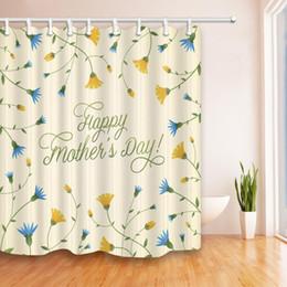 $enCountryForm.capitalKeyWord Canada - Flower Shower Curtain Bathroom Decor Mother's Day Plant Waterproof Polyester Fabric Home Bath Fashion Accessories Curtains 70 X 70 Inch