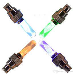 air valve electric UK - LED Flash Tyre Bike Wheel Valve Cap Light Colorful Lights Bike Valve Electric Car Air Mouth Mountain Bike Equipment