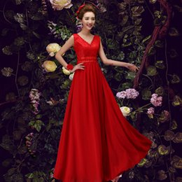 robe de soiree fashion ladies elegant floor length evening red bridal party formal  gowns women long dress for occasions H2463 33f1b767b348