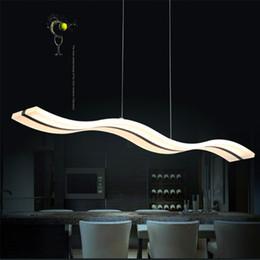 Hot LED Acylic Pendant Light Wavy S Type Modern For Living Room Wave Acrylic Lamp Dinning Lighting AC85265V
