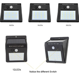Needle Hole Switch Solar LED Wall Light 8les 10les 12leds 16leds 20leds  Waterproof Outdoor Lights Solar Operated LED Downlight DC6V White Outdoor  Waterproof ...