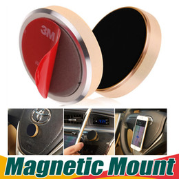 Wholesale Stick Magnetic Car Phone Holder Universal Mini Cell Phone Car Mounts With Retail Package For iPhone Plus Samsung Smartphones GPS Devices