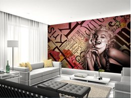 Marvelous 3d Room Wallpaper Custom Photo Mural Marilyn Monroe Goddess Of America  Decor Painting 3d Wall Murals Wall Paper For Walls 3 D Living Room Marilyn  Monroe ... Great Pictures