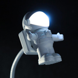 Usb Cooler Switch Canada - Wholesale- 2017 Fashion Cool New Astronaut Spaceman USB LED Adjustable Night Light For Computer PC Lamp Kids Study Night Reading Light