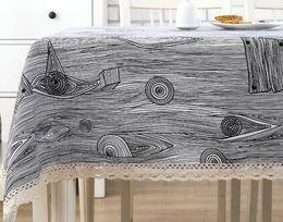 New Fashion Style Simple Modern Linen Tablecloths Cloth Round Table  Tablecloth Table Table Cloth Cotton Rectangular Garden