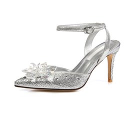 2017 new stella luna fashion wedding shoes luxury crystal shoe high heeled sandals shoes womens pumps stiletto heel jeweled sandals