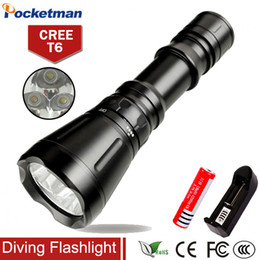 online shopping 8000 Lumens Diving Flashlight CREE XM L T6 mode M LED Flash Light Waterproof Scuba Dive Torch Underwater Hunting
