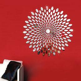 $enCountryForm.capitalKeyWord Australia - Acrylic 3D mirror wall stickers kids Creative Home Decor DIY Removable silver Decoration Sticker 2017 225pcs set wholesale Free delivery