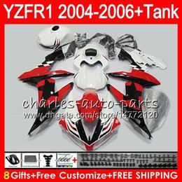 Star compreSSion online shopping - 8Gift Color Body For YAMAHA YZF1000 YZFR1 YZF R1000 Red black stars HM10 YZF R YZF YZF R1 YZF R1 Fairing