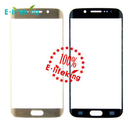 Lcd screen samsung gaLaxy s6 edge online shopping - 100 Original New Genuine Front Screen Outer Glass Lens Panel for Samsung Galaxy S6 Edge Black White Gold