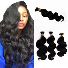 18 Inch Human Hair For NZ - High Quality Brazilian Body Wave Human Hair Bulk for Braiding 4-28 inch Unporcessed Hair Bulk 4 Bundles FDSHINE