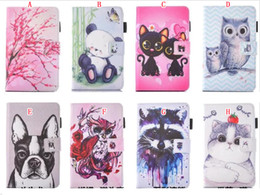 wholesale apple mini bags Canada - Cartoon Flower Smart Leather Case Stand Pouch For Ipad Mini 1 2 3 Ipad 2 3 4 Air 2 Pro Ipad6 tablet Tiger Cat Owl Soft TPU Skin Cover 20pcs
