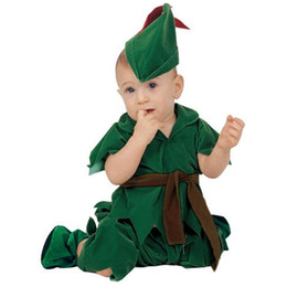 Barato Peter Cosplay-Surprise Price Baby Boy Toddler Peter Pan Movie Character Cosplay Fancy Dress Halloween Party Carnival Costumes