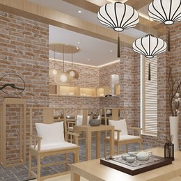 Wholesale  3D Non Woven Thick Heavy Vinyl Wall Paper Rustic Pattern Faux  Textured Brick Wall Effect Wallpaper For Bedroom And Living Room