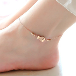 $enCountryForm.capitalKeyWord NZ - Hot Selling Fashion Cute Fish Anklet in Rose Gold Color Steel Chain Bracelet Women Girl Lover Beach Barefoot Chain Jewelry