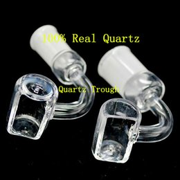 e nail for quartz banger NZ - Quartz Trough Domeless Nail Dozer Nails Honey Bucket Bangers Dab Tool Also Sell Carb Cap E Nail Oil Burner Bongs For Glass Water Pipes