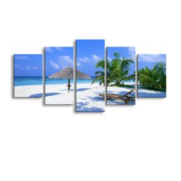$enCountryForm.capitalKeyWord UK - 5 pieces high-definition print beach canvas oil painting poster and wall art living room picture PL5-178