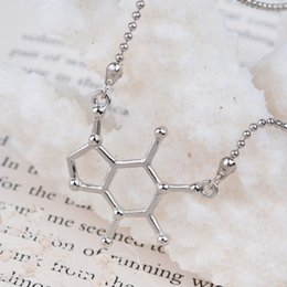 Discount chemistry necklace - 8SEASONS New Fashion Chemistry Science Necklace Cell Connector Ball Chain Silver Tone Color 51.0cm(20 1 8