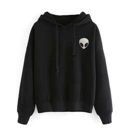 free t shirts designs UK - New 2017 Design Winter Autumn Skull Printed Women Hoodies Sweatshirts Black Gray Loose Sport Hooded T Shirts Free Shipping