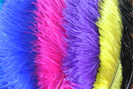 red black gold party decorations NZ - White black orange royal blue purple red yellow green gold pink ivory Ostrich Feather 16-18INCH (40-45cm) Wedding centerpiece