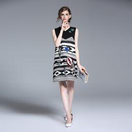 $enCountryForm.capitalKeyWord Australia - 2017 High quality new women fashion vest denim dress personalized embroidered sleeveless women's dress spring summer