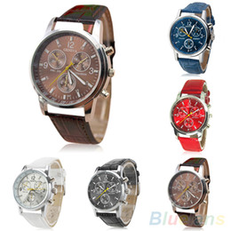 Wholesale Mens Womens Fashion Faux Leather Band Quartz Analog Dress Bracelet Wrist Watch