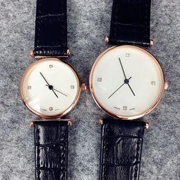 China Fashion women man leather Dress Watch brown black lover watch wholesale price wristwatch Quartz famous brand Clock genuine leather cheap genuine men dress watch suppliers