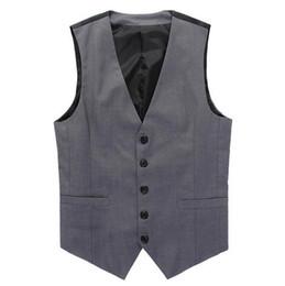 Fashion vest For men xxl online shopping - Leisure Mens Suit Vest Wedding Banquet Casual Gentleman Suit Vests Fashion V Neck Slim Fit Golf Beckham Vest For Men
