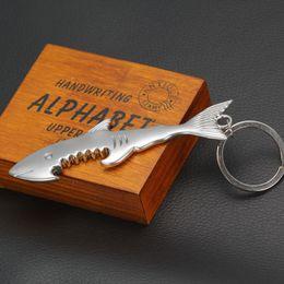 $enCountryForm.capitalKeyWord Canada - Promotion gift Shark bottle opener key ring Environmental alloy animal shark keychain key chains handbags pendants jewelry Drop Ship 240228