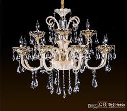 Bedroom Chandeliers Candles Australia - K9 crystal chandeliers candle crystal ceiling lamp luxurious Ceiling light fixture for living room dining room bedroom indoor light