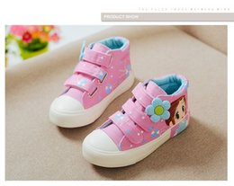 $enCountryForm.capitalKeyWord Canada - Girls Canvas Sneakers Children Casual Shoes Denim Girls Princess Shoes white pink black Student Flat Boots for Kids Athletic Shoes