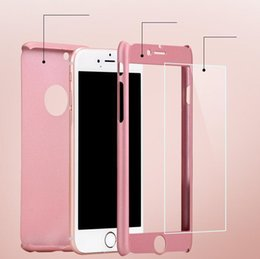 $enCountryForm.capitalKeyWord NZ - Ultra-thin Hybrid 360 Degree Full Body Coverage Protective Case Cover with Tempered Glass Screen for iPhone 7 6 6S Plus SE 5S+free shipping