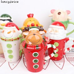 mug christmas gifts NZ - Christmas Ceramic Tea Mugs Gift Water Container Cups And Mugs Top Grade Porcelain Coffee Cup Drinkware