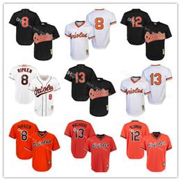 967cddeae Mens Baltimore Orioles Cal Ripken Jr. Roberto Alomar Mitchell Ness Black  Cooperstown Mesh Batting Practice ...
