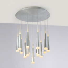 $enCountryForm.capitalKeyWord Canada - Creative LED Taper Pipe Dining Room Pendant Lights Taper Shape Bar Counter Ceiling Pendant Lamp Spiral Stair Aluminum Acrylic Cone Tube Pend
