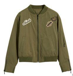 Long styLe women s jackets online shopping - Women Embroidery Baseball Jacket Fashion Spring Autumn Casual Coats Wear Short Style Jackets